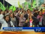 Así se desarrollaron las manifestantes en contra y favor del presidente Rafael Correa