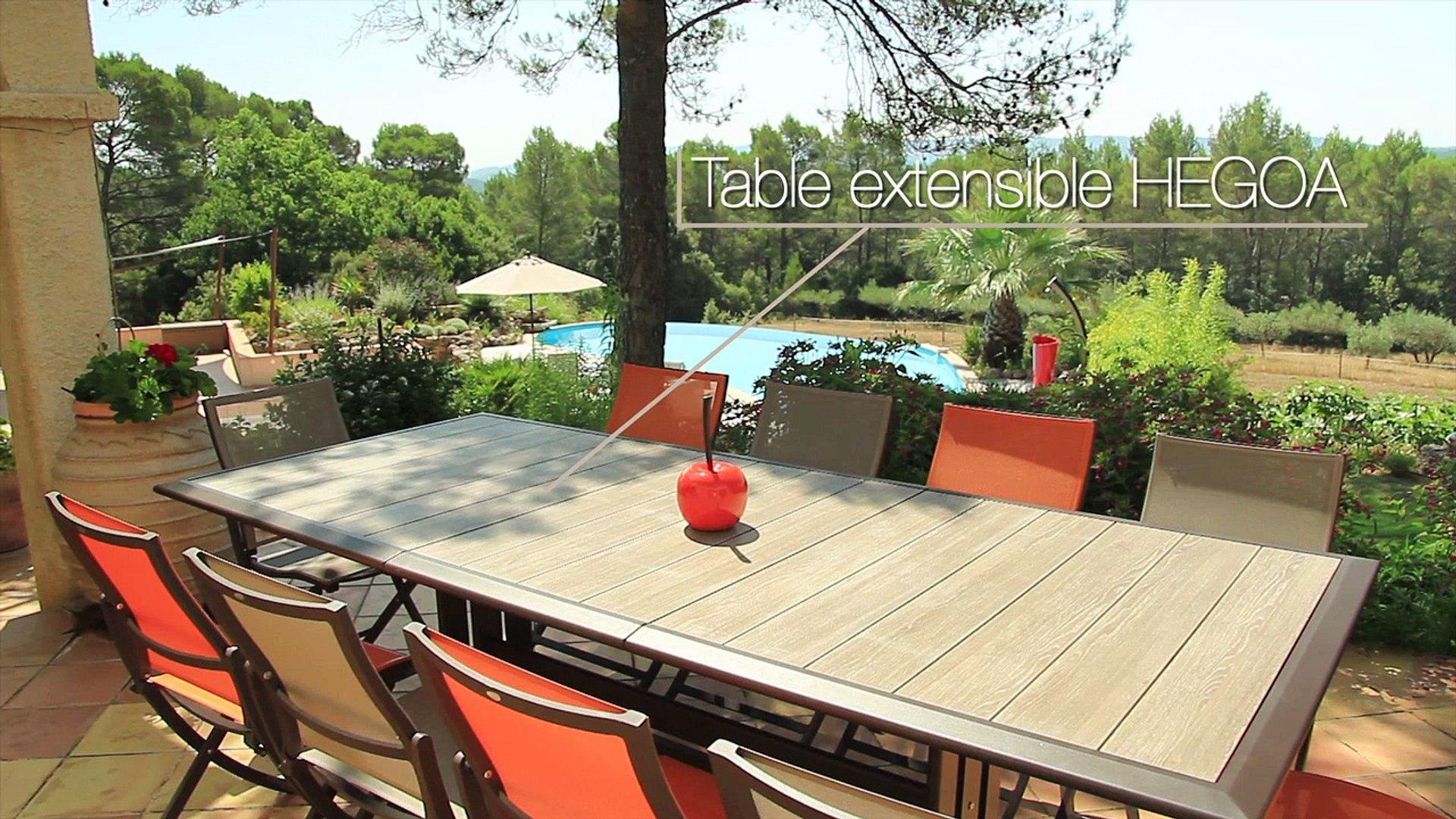 Table de jardin HEGOA - Les Jardins© Mobilier d\'extérieur design