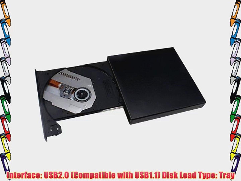 AGPtek? Blu-ray External USB BD-R BD-ROM Combo DVD RW Burner Drive Black Compatible with Windows