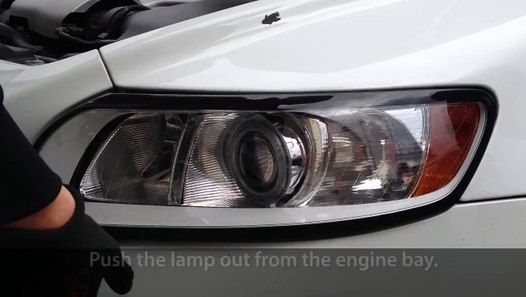 How To Remove Headlights In Volvo C30  S40  V50  C70