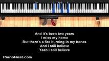 Rachel Platten - Fight Song - LOWER Key (Piano Karaoke / Sing Along / Cover with Lyrics)