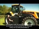 JCB fastrac 8310 met Peecon dumper eXtra trekker - het landbouw transportbedrijf van de toekomst