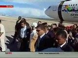 Llegada del líder libio, Muammar al-Gaddafi a la II Cumbre de ASA en Venezuela 25/09/2009