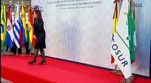29 de JUN. Reunión Cristina Fernández, Dilma Rousseff, José Mujica. Cumbre Mercosur 2012
