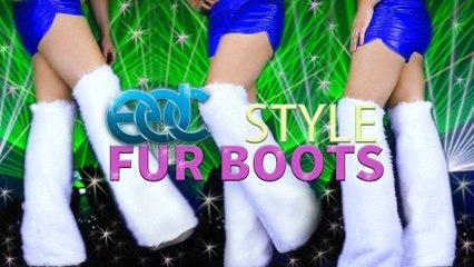 RAVE / FESTIVAL FUR BOOTS TUTORIAL - DIY CUSTOM BOOTS FOR UNDER 20$
