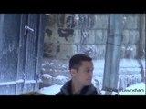 Joseph Gordon-Levitt Filming Scene in Snow! (The Dark Knight Rises)