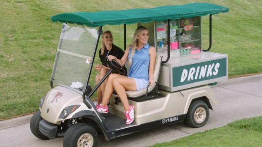The Sexiest Shots in Golf - SI Swimsuit Rookie of the Year Ambushes Golfers