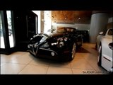 Alfa Romeo 8C Spider in Black