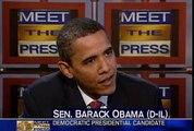 "Tim Russert Barack Obama Meet the press May 4 2008 ""Gas Tax"""