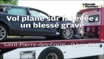 VIDEO. Vol plané sur la levée à Saint-Pierre-des-Corps : un blessé grave