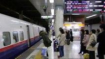 【HD】 JR EAST SHINKANSEN (Bullet train)  JR東日本上野駅新幹線ホーム その5