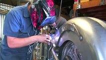 Custom Build Welding the Rear Fender - Road Rage Performance Custom Choppers & Motorcycles