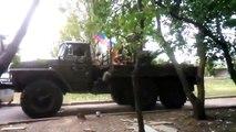 Донецк бои за аэропорт работает зенитная установку ЗУ-23