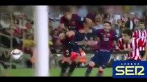 Golazo de Leo Messi al Athletic Club narrado por radios y televisiones   30 05 2015 Amazing Goal