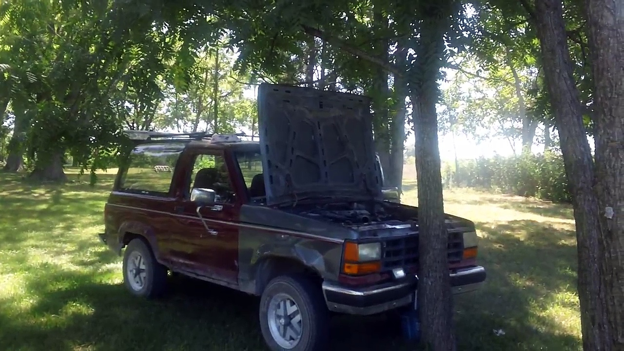 ford bronco 2 engine blow