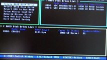 How to configure raid 0 in the bios and install windows 7
