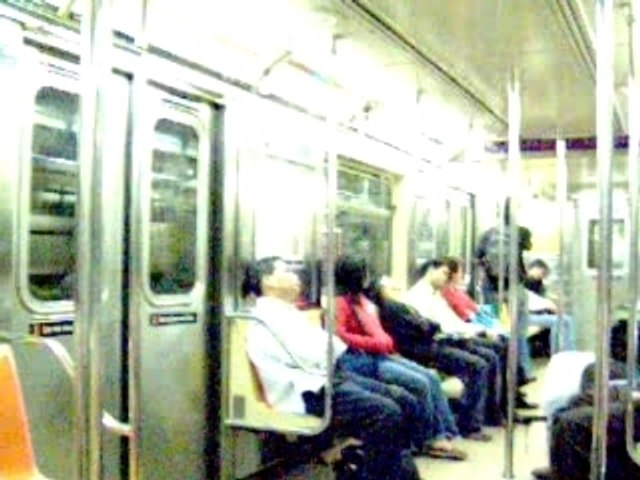 A view in the subway of New York