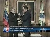 Innacio Lula Da Silva Elogia a Hugo Chávez