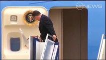 Presidential touchdown