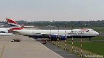 Boeing 747-8F BA World Cargo *G-GSSE* Takeoff @ Düsseldorf Airport