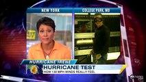 Hurricane Irene: What Do 130MPH Winds Feel Like?  Testing High-Powered Winds
