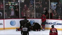 Corey Perry interference major on Jason Zucker Mar 12 2013 Anaheim Ducks vs Minnesota Wild NHL
