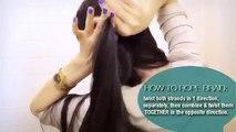 ★ CUTE HAIRSTYLES HAIR TUTORIAL ROPE SIDE BRAID PONYTAIL UPDOS FOR MEDIUM LONG HAIR SCHOOL