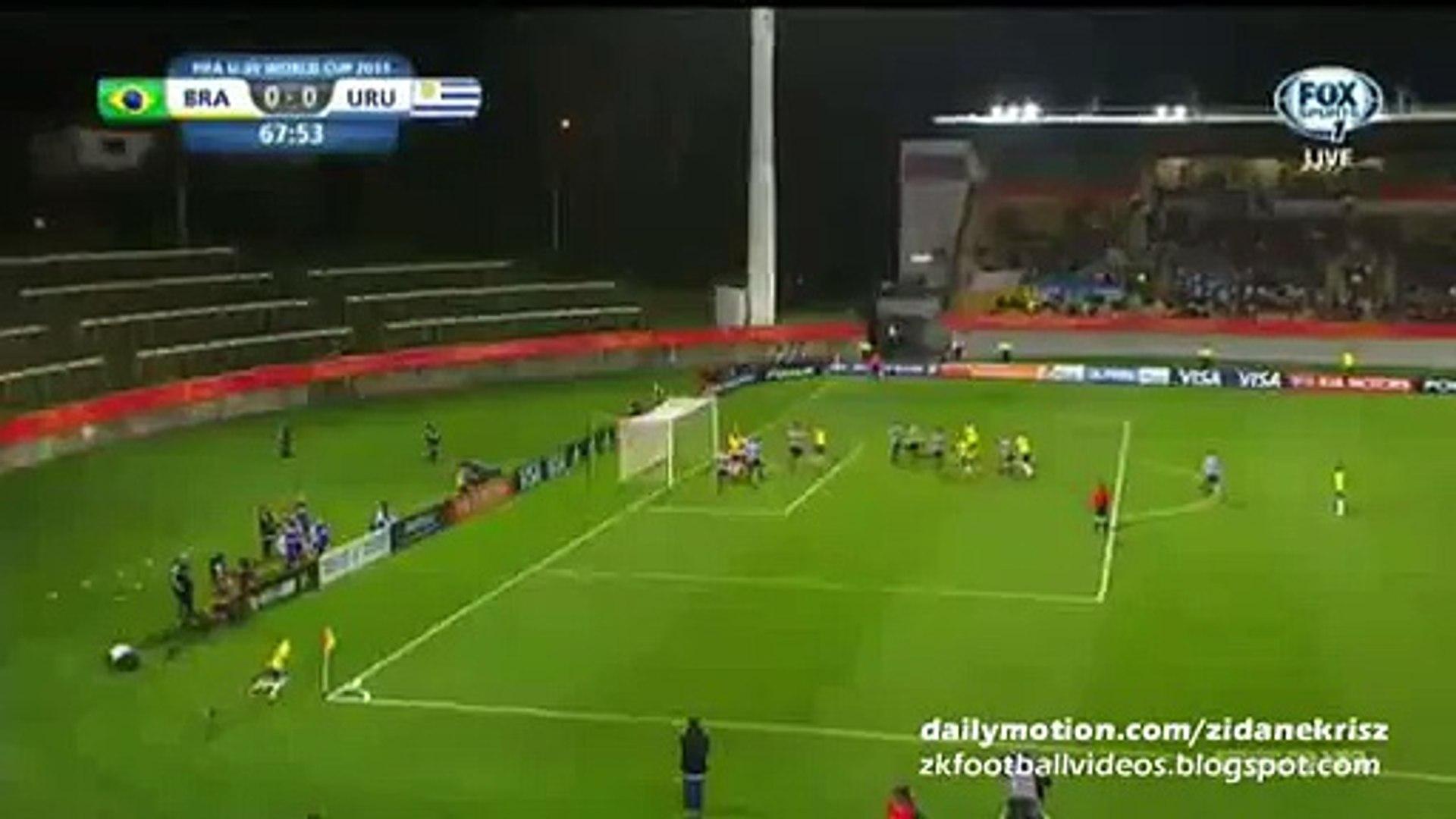 Danilo Incredible Miss From 2 meter - Brazil v. Uruguay - FIFA U20 World Cup 11.06.2015