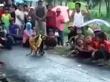 Monkey on bike lol Hahahaha