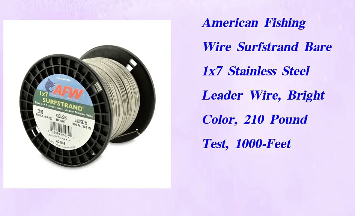American Fishing Wire Surfstrand Bare 1×7 Stainless