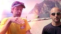 ▶ Crazy Wingsuit Flight -- Man Lands on Water Without Parachute -