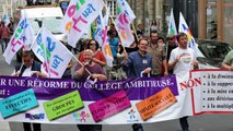 Manifestation contre la réforme des collèges à Rennes
