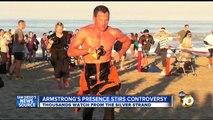 Lance Armstrong competes in Superfrog Triathlon in Coronado