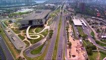 Comparativo aéreo das obras olímpicas na Barra | Cidade Olímpica