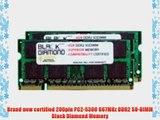 4GB 2X2GB RAM Memory for Compaq HP Business Notebooks Business Notebook 6910p Black Diamond