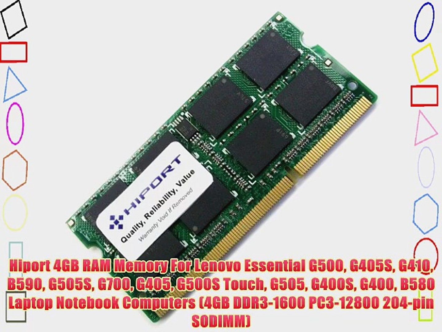 1X4GB RAM Memory Compatible with Lenovo Essential G500 15.6 Inch Laptop A20 4GB