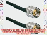 UHF Male PL-259 coax Antenna cable for Ham and CB Radios   USA Made Andrew Commscope Coaxial