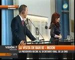 Visión Siete: Visita de Ban Ki-moon a la Argentina