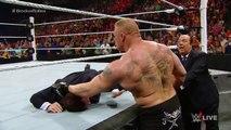 Seth Rollins vs Brock Lesnar - WWE World Heavyweight Championship Match- Raw, March 30, 2015