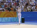 Anna Bessonova Hoop Qualification 2004 Athens Olympics