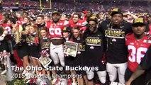 Ohio State Buckeyes sing Carmen Ohio after winning the National Championship vs. Oregon
