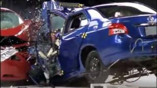 Toyota Yaris vs Toyota Camry Crash Test