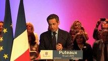 Puteaux - Discours de soutien de Nicolas Sarkozy à la liste menée par Joëlle Ceccaldi-Raynaud