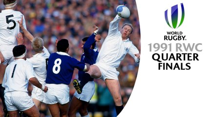 CLASSIC MATCHES! Rugby World Cup 1991 quarter finals 1 & 2