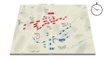 Reconstitution animée de la bataille de Waterloo