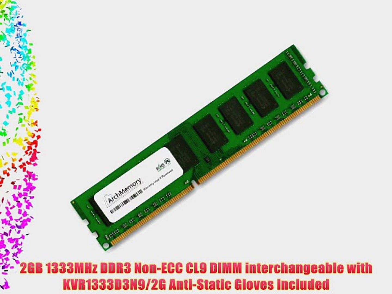 New Kingston 2GB PC3-10600 1333Mhz DIMM Desktop PC Memory RAM KVR1333D3N9//2G