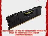 Corsair Vengeance LPX 16GB (4 x 4GB) DDR4 DRAM 3000MHz (PC4-24000) C15 memory kit for DDR4