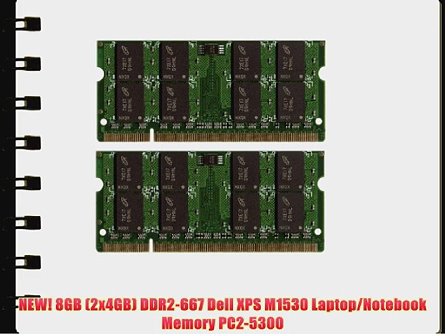 NEW! 8GB (2x4GB) DDR2-667 Dell XPS M1530 Laptop/Notebook Memory PC2-5300