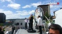 Critérium du Dauphiné : Bernard Hinault félicite Vincenzo Nibali