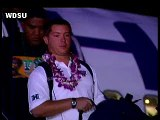 Hawaii Arrives For The Sugar Bowl